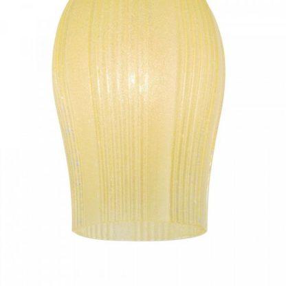 szklana lampa wisząca, żółta, klasyczna, vintage