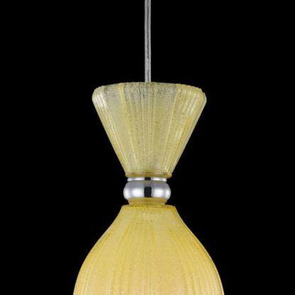 żółta lampa wisząca ze szkła