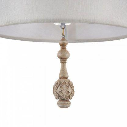 biała lampa wisząca z abażurem, wzory vintage