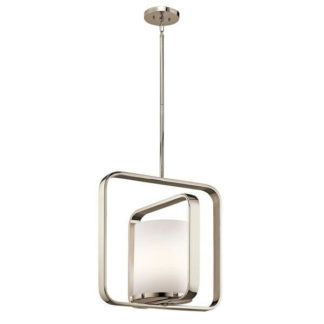 Nowoczesna lampa wisząca City Loft - srebrna, mleczny klosz
