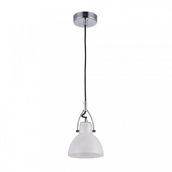 biała lampa wisząca w stylu skandynawskim, do kuchni, do sypialni