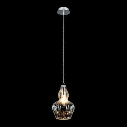 bezbarwna, szklana lampa wisząca