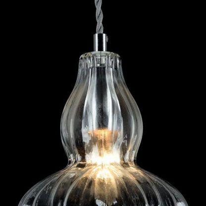 lampa wisząca ze szkła, elegancka