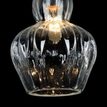 szklana lampa wisząca, oryginalna
