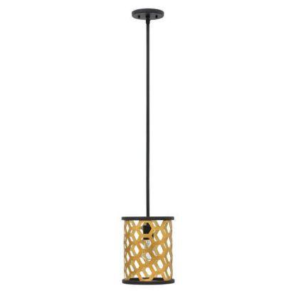 metalowa, oryginalna lampa wisząca, ażurowy klosz złoty