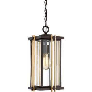 Lampa wisząca Goldenrod - szklana, brązowa, art deco, IP23