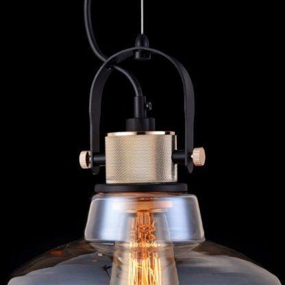 lampa wisząca, przemysłowy design, widoczne mocowania