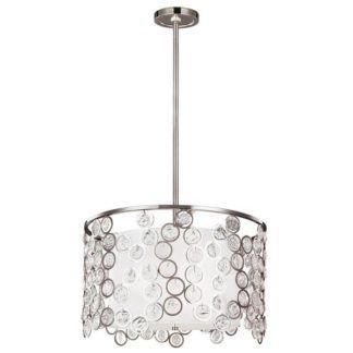 Gustowna lampa wisząca Lexi M - srebrna, połyskujące kryształki