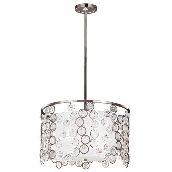 lampa wisząca w stylu glamour z jednym dużym kloszem