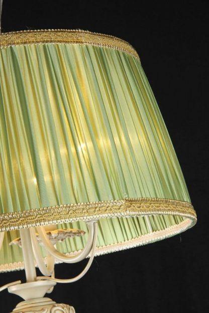 zielono-kremowa lampa wisząca, klasyczna
