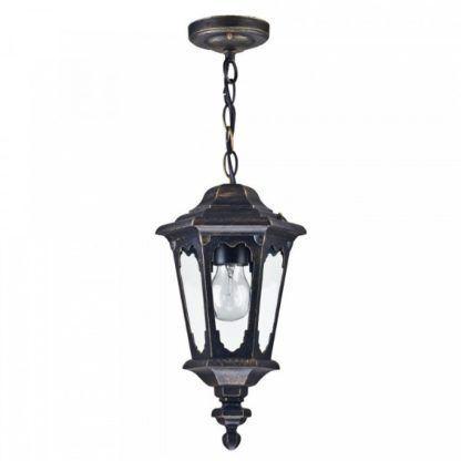 klasyczna lampa wisząca, kształt latarni, oświetlenie zewnętrzne