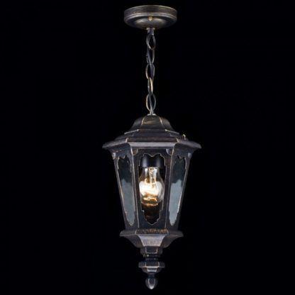 lampa zewnętrzna, klasyczna, brązowa, szklany klosz