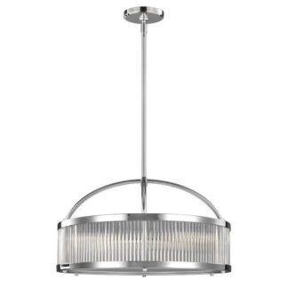 Srebrna lampa wisząca Paulson - duży klosz, srebrna, szklana