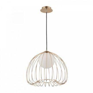 Lampa wisząca Polly - złoty, druciany klosz