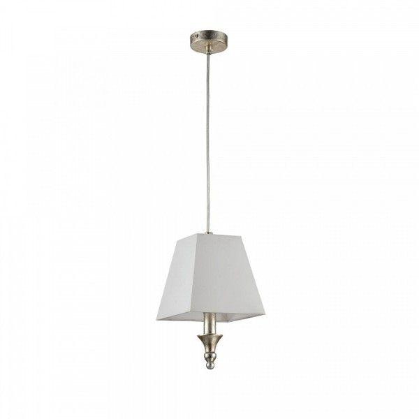 biała lampa wisząca z abażurem i złotą podstawą, mosiądz, klasyczna