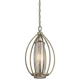 Metalowa klasyczna lampa wisząca Rosalie - szklany klosz, złota