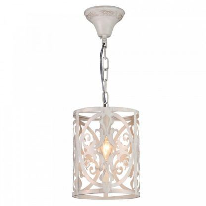 rustykalna lampa wisząca, kremowy klosz z metalu