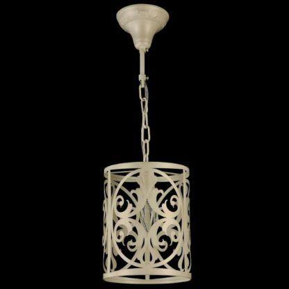 kremowa lampa wisząca rustykalna, metalowa