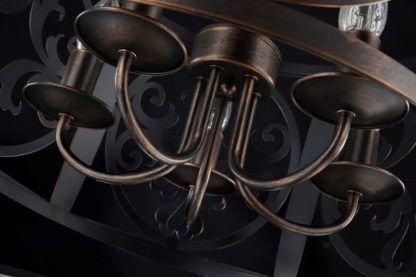 duża lampa wisząca, ciemny brąz, metalowa, rustykalna