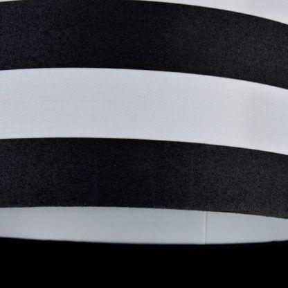 lampa wisząca z biało-czarnym abażurem
