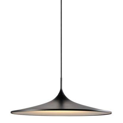 płaska lampa nad stół, styl nowoczesny, skandynawski, czarny klosz