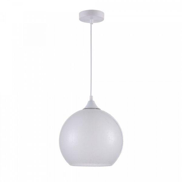 nowoczesna lampa wisząca, szklany klosz z efektem deszczu