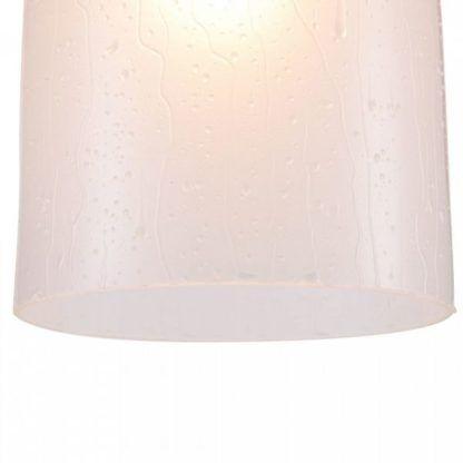 szklana, jasna lampa wisząca