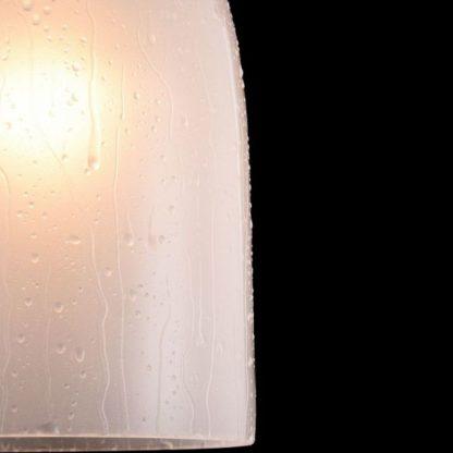 lampa wisząca z kloszem szklanym z efektem deszczu