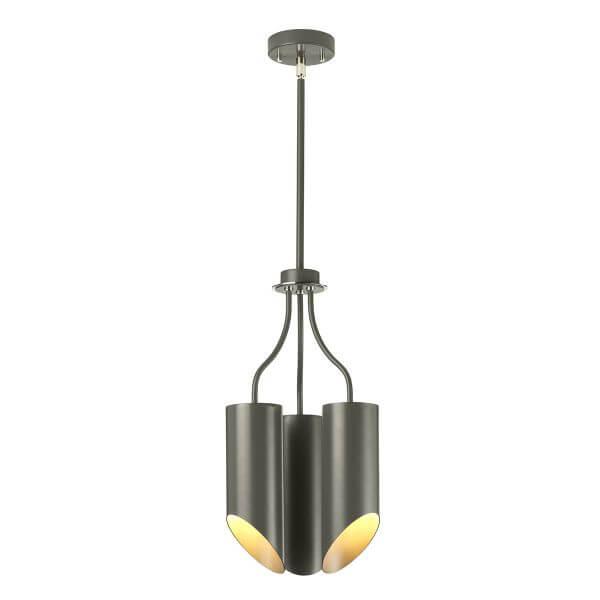 nowoczesna, minimalistyczna lampa wisząca w grafitowym kolorze