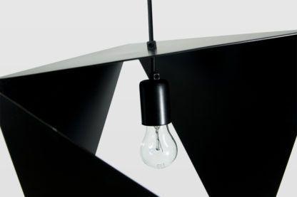 nowoczesna lampa wisząca, czarny metal, oryginalna forma