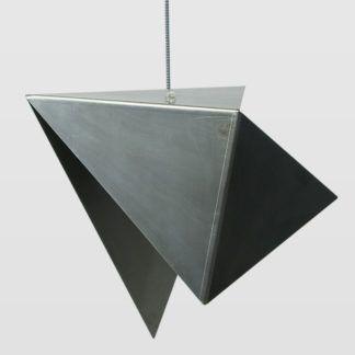 Lampa wisząca Bird Raw I - stalowa, srebrna