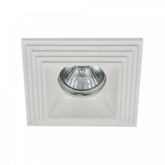 Kwadratowe oczko sufitowe Modern - białe, gipsowe