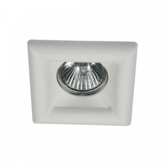 Gipsowe oczko sufitowe Modern - kwadratowe, białe