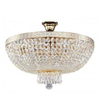 Okrągła lampa sufitowa Bella - złota, styl glamour