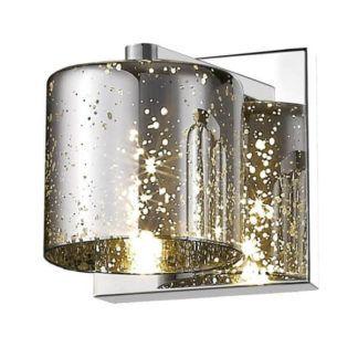 Połyskujący kinkiet Pioli - srebrny, szklany