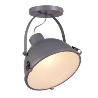 Reflektor sufitowy Erico - szary, mleczny dyfuzor