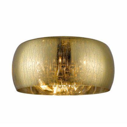 złoty, szklany plafon z efektem deszczu, kryształki wewnątrz