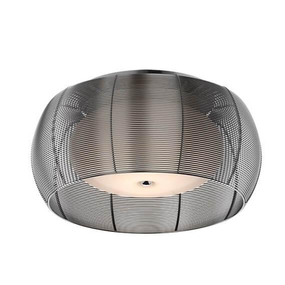 lampa sufitowa z podwójnym kloszem - białe szkło, czarne aluminium