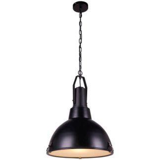 Czarna lampa wisząca Bento - metalowa, industrialna