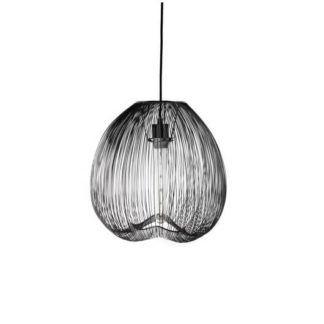 Ażurowa lampa wisząca Cage - czarna, druciana