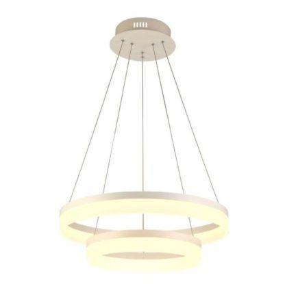 ledowa lampa wisząca, nowoczesna, okrągłe pierścienie LED