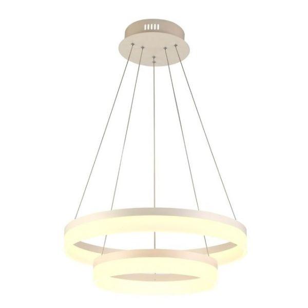 lampa wisząca z ledowymi pierścieniami, nowoczesna