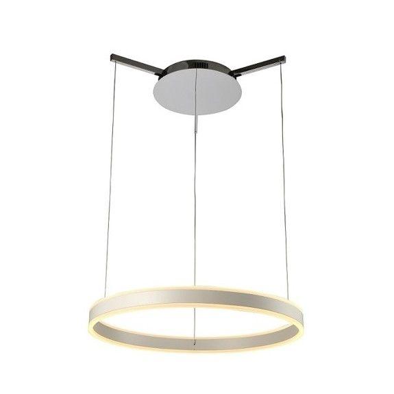 nowoczesna lampa wisząca z okrągłym panelem LED