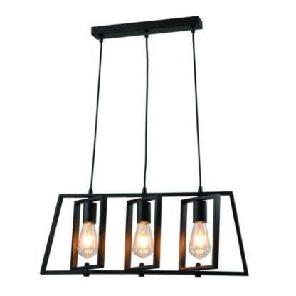 lampa wisząca industrialna, czarna, ażurowa