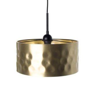 Złota lampa wisząca Forge - metalowy klosz w stylu industrialnym