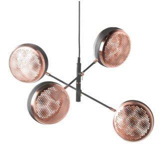 Oryginalna lampa wisząca Hive - czarna, miedziana, nowoczesna