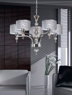 Srebrny żyrandol Jewellery - glamour, szklane kule