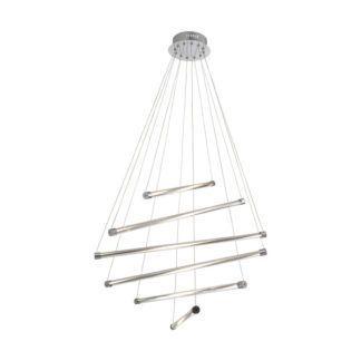Designerska lampa wisząca Napa - srebrna, panele LED