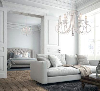 elegancki żyrandol wiktoriański - aranżacja salon, sypialnia klasyczna