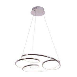 Finezyjna lampa wisząca Peria - srebrna, panel LED